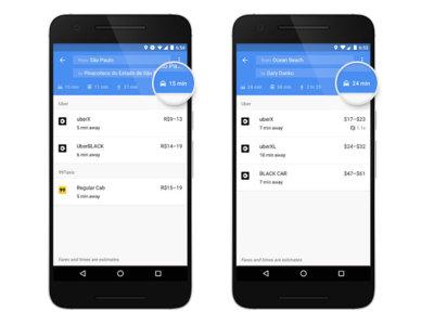 Google Maps para Android hace que pedir un taxi sea ahora mucho más sencillo y rápido
