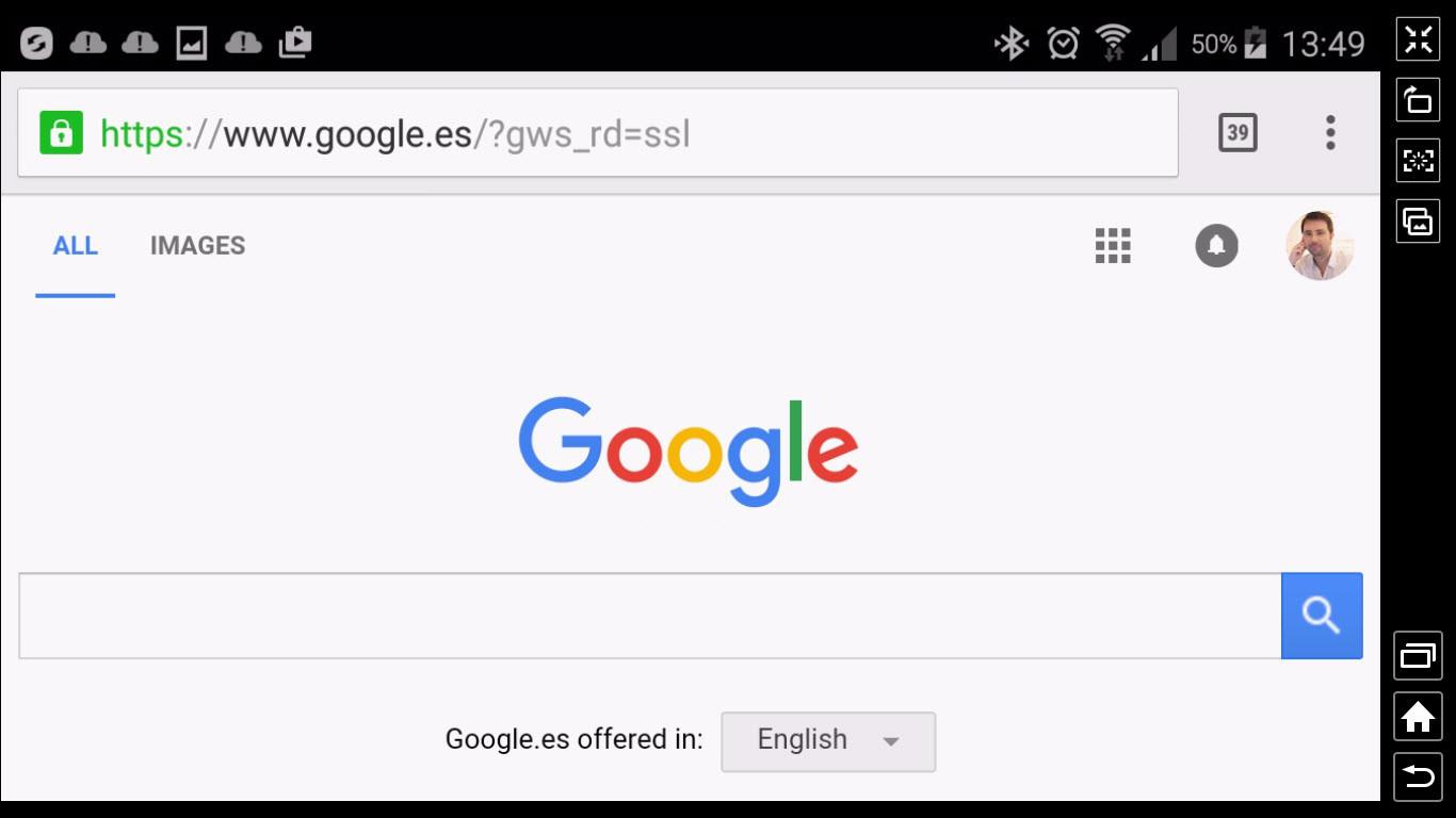 Android on Windows via Samsung Sidesync
