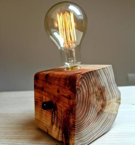Brz wood design m s madera es la guerra de la iluminaci n - Lamparas artesanales de madera ...