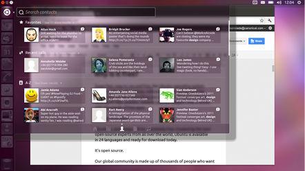 Ubuntu for Android, gestión de contactos