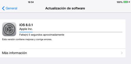 Apple se mueve rápido y lanza la actualización a iOS 8.0.1