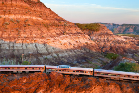 Train Drumheller Badlands