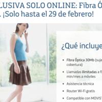 Movistar vuelve a los precios promocionales, conexiones de fibra con un año de oferta