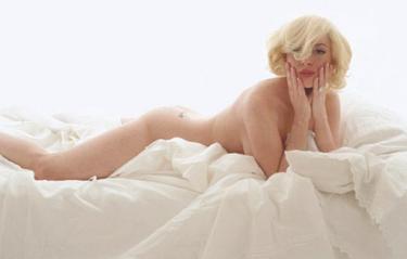 Lindsay Lohan en plan Marilyn