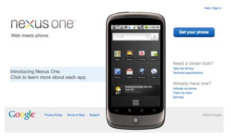 Nexus One libre a 530 dólares, ¿el 5 de enero?