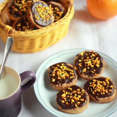 Galletas rústicas de chocolate y naranja, receta para una merienda especial