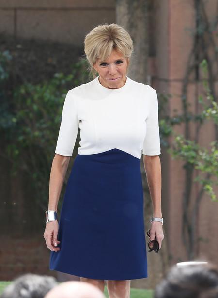 brigitte macron estilismo look outfit