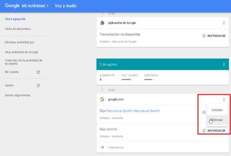 Borrar información de Google