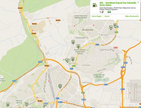 Mapa de recarga rápida para coche eléctrico en San Sebastian de los Reyes