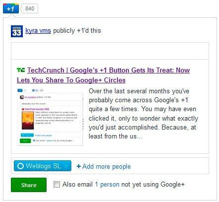 """El botón """"+1"""" de Google ya deja compartir directamente en Google+"""