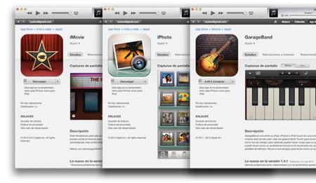 Apple actualiza las versiones iOS de iPhoto, iMovie y Garageband