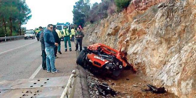 Dolorpasión con un Ferrari 458 Spider en Alcúdia