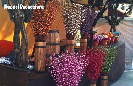 feria medieval flores decorativas