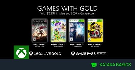 Juegos de Xbox Gold gratis para Xbox One y 360 de agosto 2021