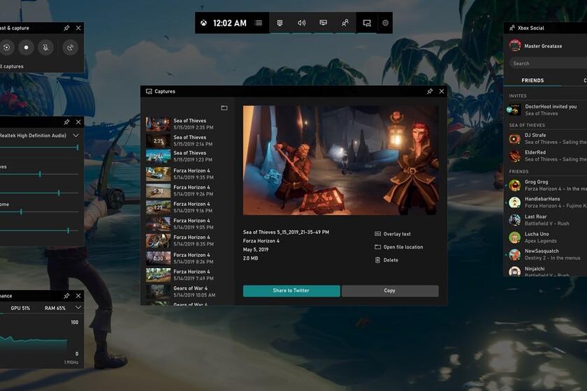 La Xbox Game Bar se actualiza: gana en fluidez y añade un gestor de recursos para controlar tus sesiones de juego en PC