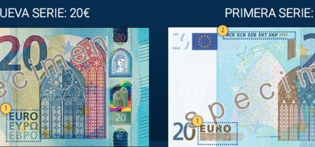 El próximo miércoles entra en circulación el nuevo billete de 20 euros