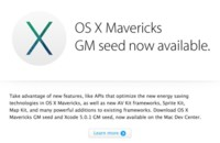 Apple lanza la versión Golden Master de OS X Mavericks