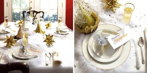 Decorando la mesa de nochevieja en dorado - Decoracion mesa nochevieja ...