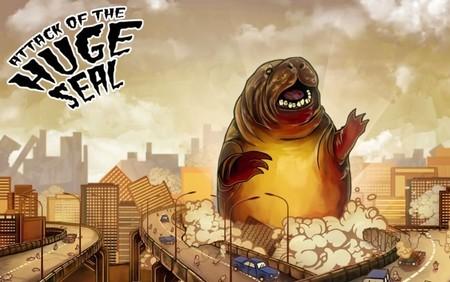 Una foca enorme nos brinda una promoción bestial