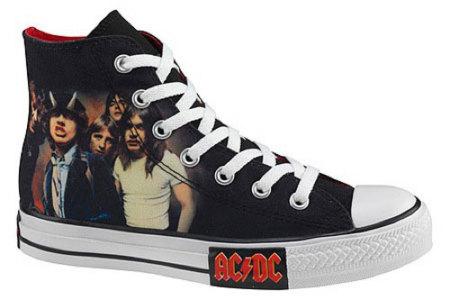 Las Converse de Metallica y AC/DC