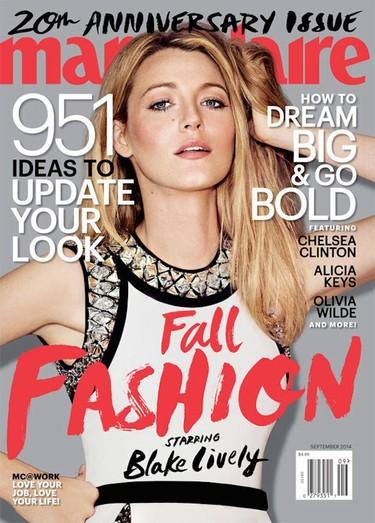 Blake Lively no suelta las portadas, de Vogue a septiembre con Marie Claire