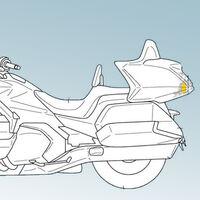 La Honda Gold Wing podría estrenar radar delantero y trasero en su actualización a Euro5, según estas patentes