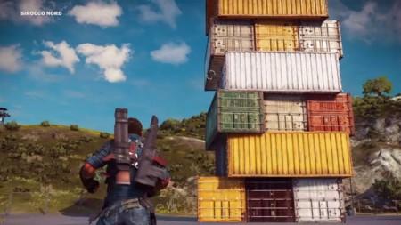La última locura de Just Cause 3 es jugar al Jenga al estilo Rico Rodríguez