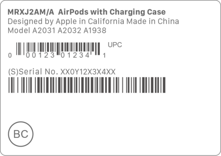 Airpods 2nd Gen Serial Number Packaging Barcode