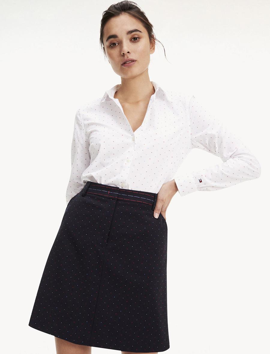 Camisa de mujer de manga larga con logo bordado