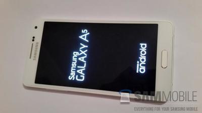 Samsung Galaxy A5 se muestra en forma de render