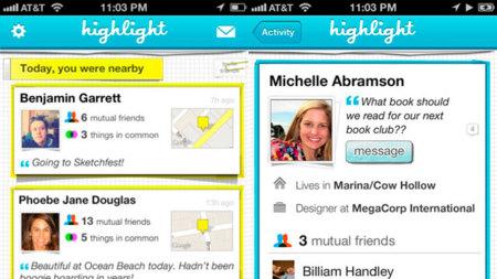 Highlight, una aplicación social para descubrir gente que puede pegar fuerte