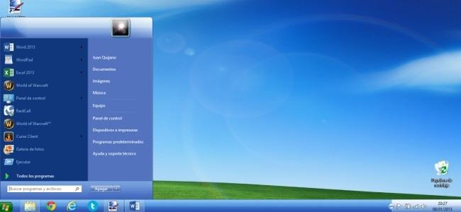 Convierte tu Windows 8 en un Windows XP con windows8themes