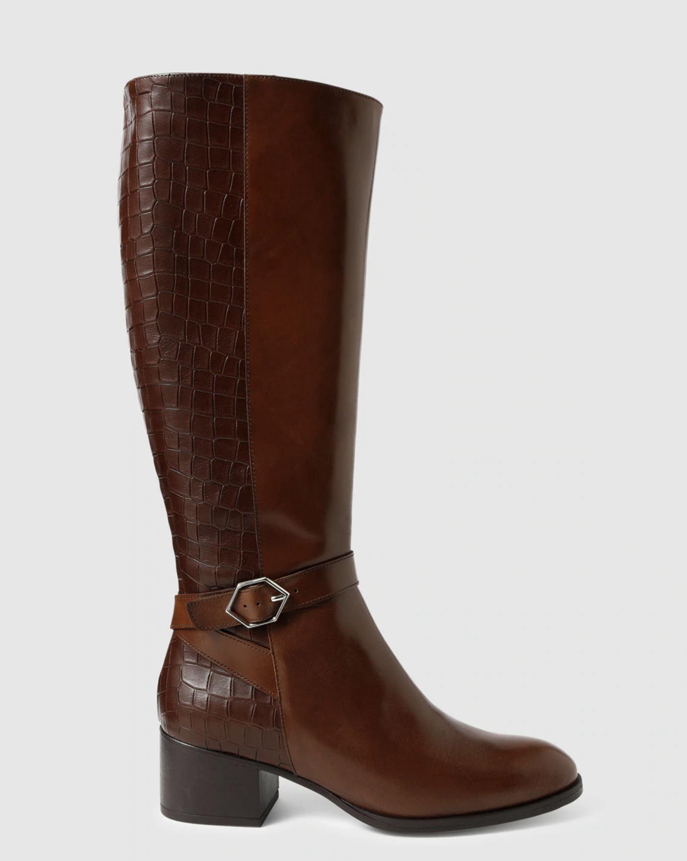 Botas de mujer Wonders en color marrón con hebilla
