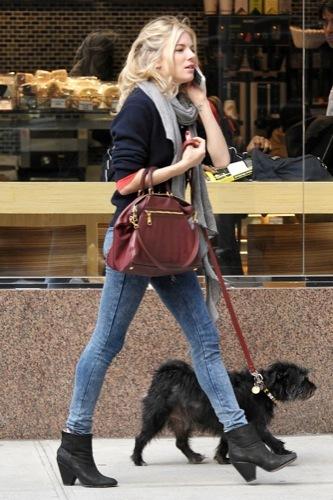 Sal a pasear al perro con estilo, copia a Sienna Miller III