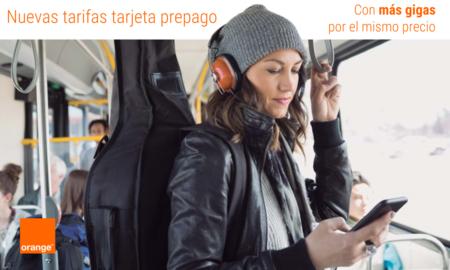 Orange establece en 15 GB el nuevo máximo de sus tarifas prepago, con más gigas por el mismo precio