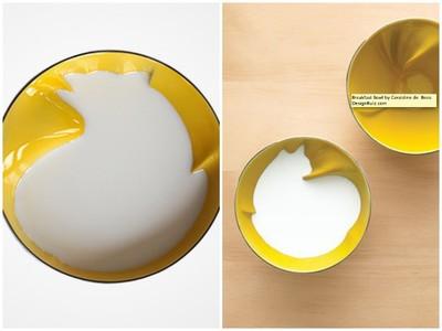 ¡Hay un gato bebiéndose mi desayuno! Las originales piezas de porcelana de Geraldine de Beco