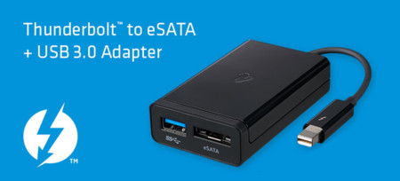 Nuevo adaptador de Thunderbolt a eSATA + USB 3.0 de Kanex