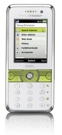 Sony Ericsson K660, enfocado a Internet
