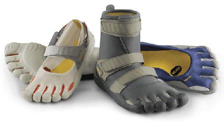 Zapatos Fivefingers, dedos libres