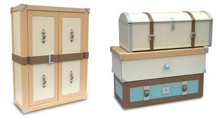 Muebles personalizados infantiles: armarios y cajoneras como baúles
