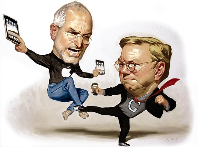 steve jobs eric schmidt apple google disputa