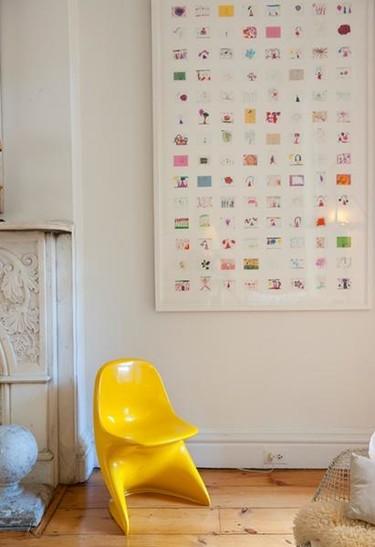 Crea un cuadro con los dibujos en miniatura de tu hijo