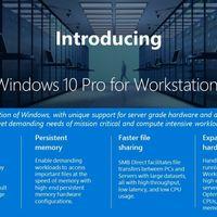 Microsoft anuncia Windows 10 Pro for Workstations, una nueva versión para los ordenadores más avanzados