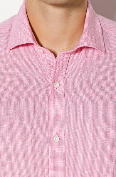 Camisa rosa lino Massimo Dutti