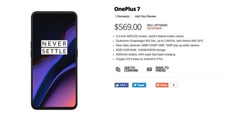 El supuesto OnePlus 7 filtrado