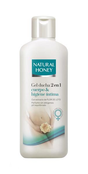 Probamos el gel de ducha, dos en uno, de Natural Honey