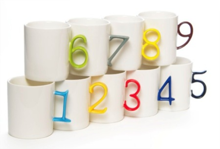 Tazas numeradas para evitar equívocos