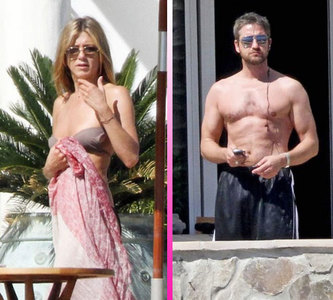 Jennifer Aniston y Gerard Butler juntos en México