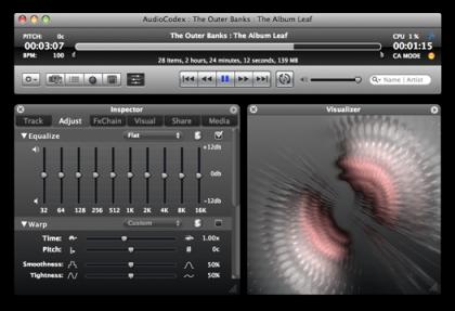 AudioCodex, efectos de audio y video en tiempo real