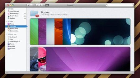 mockup apple mac os x lion finder concepto interfaz